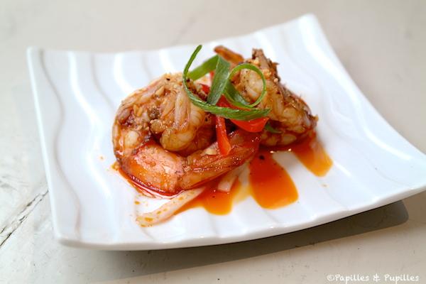 Crevettes aux saveurs pimentées et anesthésiantes
