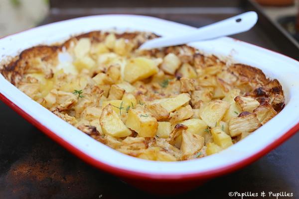 Gratin de céleri et pommes de terre