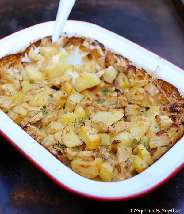 Gratin de pommes de terre et céleri rave
