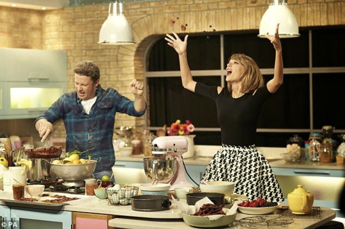 Jamie Oliver et Taylor Swift