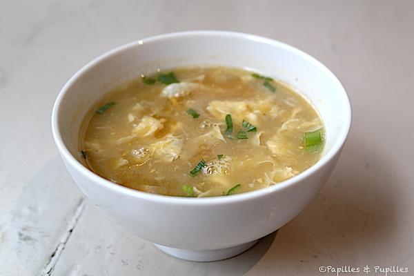 Soupe chinoise au maïs et au crabe