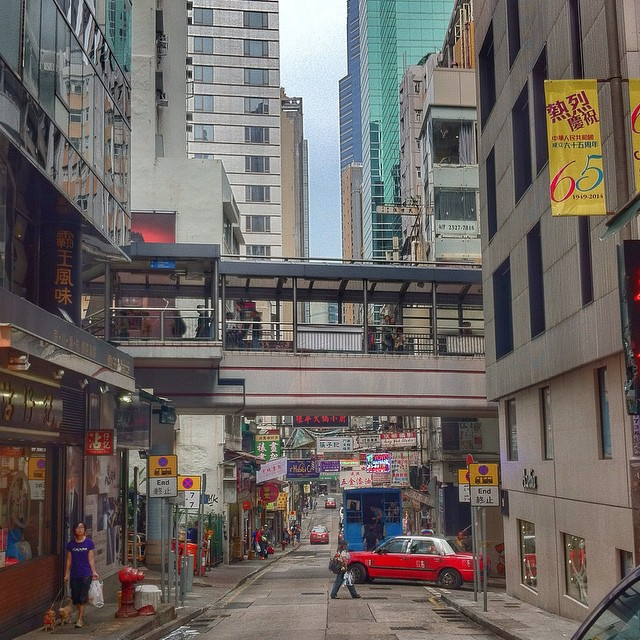 Les ruelles de Hong Kong