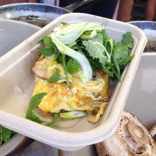 Omelettes - Bird cow fish - Market  Sydney