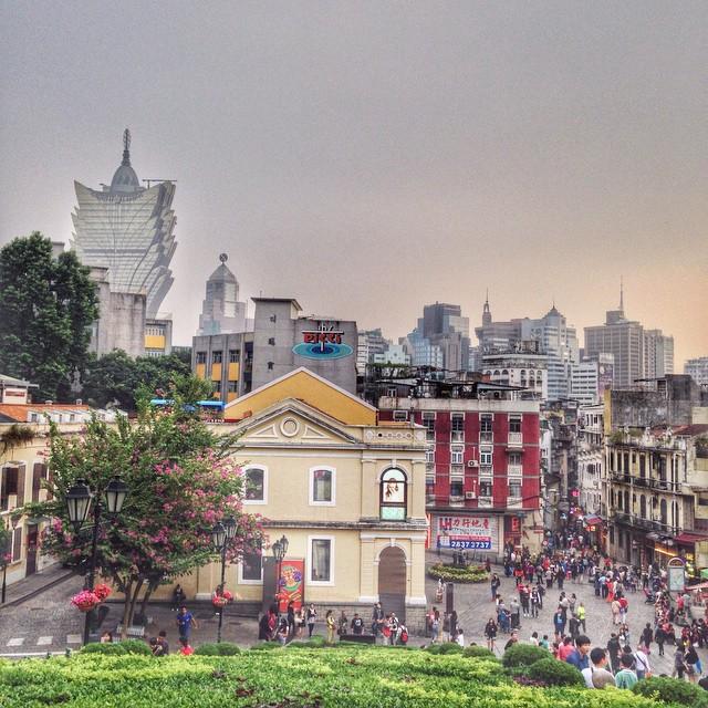 Vieux Macao depuis l'église Saint Paul