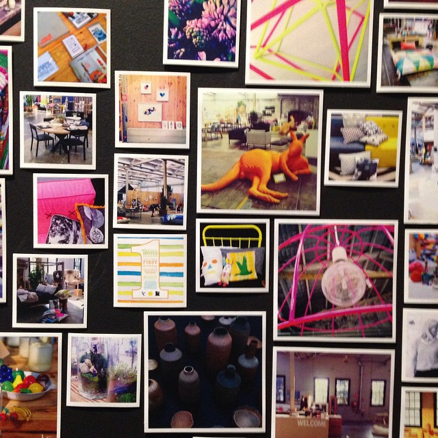 I love the idea to print the tagged instagram pictures and pin them on a wall inside @koskela_
