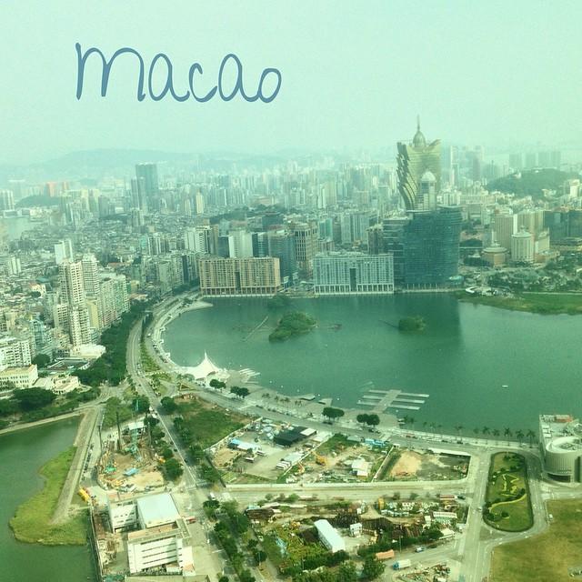 Vue depuis Macao Tower sur Macao et la Chine