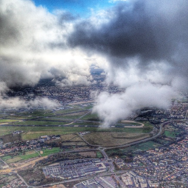 Arrivée sur Paris, vu du ciel