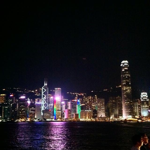 La nuit tombe sur Honk Kong