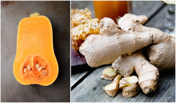 Butternut et gingembre