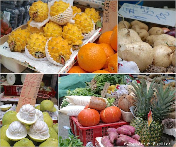Fruits et légumes - Marché, Hong Kong