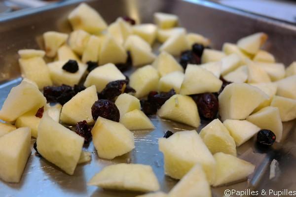 Mélange pommes et airelles, citronnés