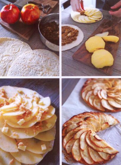 Tortilla Tarte aux pommes