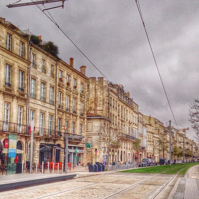 Froid et gris ce matin sur Bordeaux
