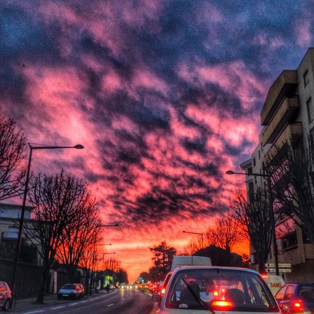 Amazing sunset - Bordeaux