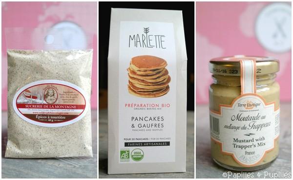 Epices à tourtière - préparation à pancakes - Moutarde au mélange du Trappeur