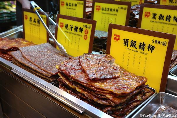 Filets de porc séchés