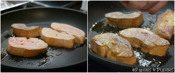 Foie gras avant et après cuisson