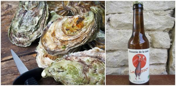 Huîtres et bière