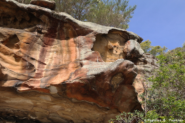 La roche rouge de Parsley Bay