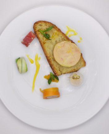 Makis de foie gras et son chutney d agrumes