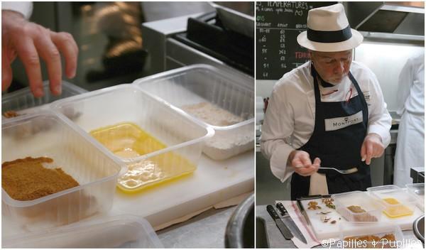 On pane les escalopes de foie gras