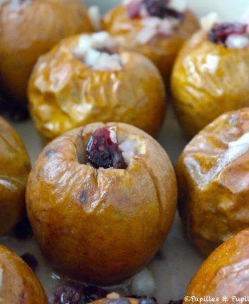 Pommes au four aux échalotes et aux airelles