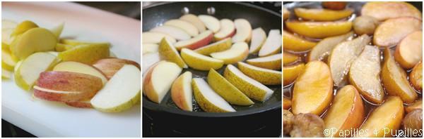 Préparation des pommes et des poires