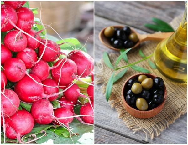 Radis et Olives  © Jitthiluk et 5 second Studio shutterstock