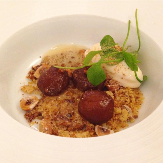 Incroyable dessert à base de pommes de terre de David Toutain #atelierNespresso
