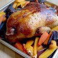 Canard au miel et à l'orange, carottes anciennes