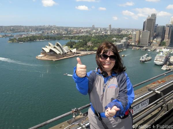 En haut du Sydney Harbour Bridge