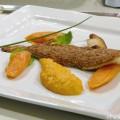 Filet de sole en chapelure de noix du Périgord, noisettes torréfiées par Michel Portos