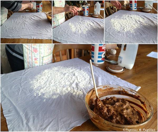 On met la farine sur le linge