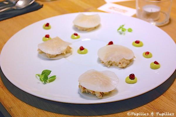Ravioles végétales au crabe