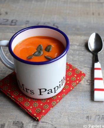 Recette - Soupe de butternut, poivrons rouges et patate douce