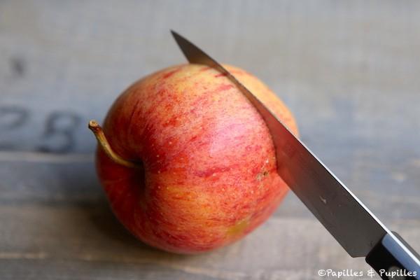Inciser les pommes
