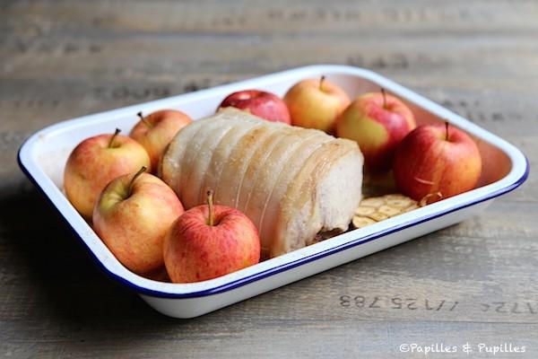 Mettez les pommes autour