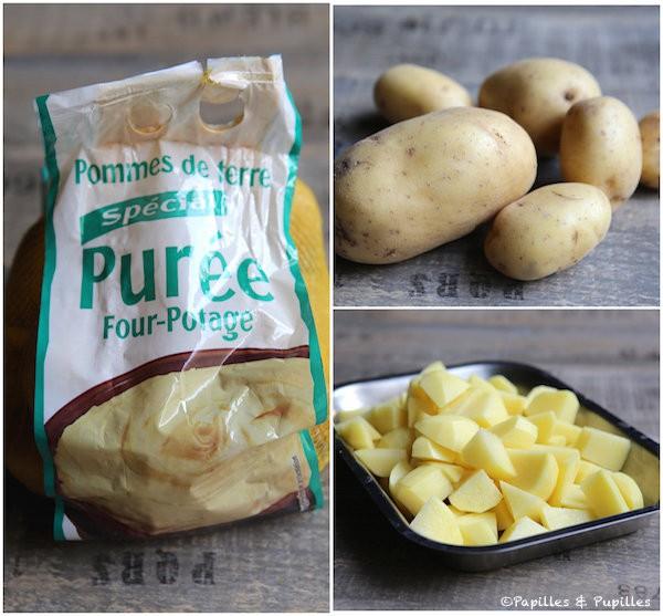 Préparation des pommes de terre