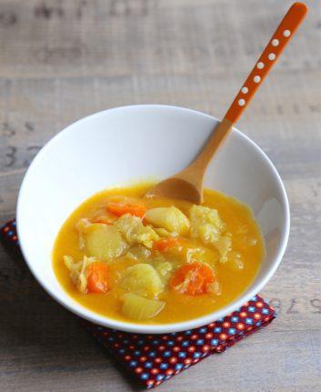 Soupe de légumes mi mixés