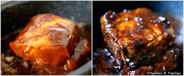 Avant et en cours de cuisson