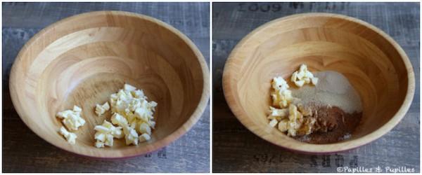 Dés de beurre - Epices et sucre, levure et sel