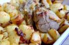 Filet mignon de veau à la moutarde et aux pommes de terre