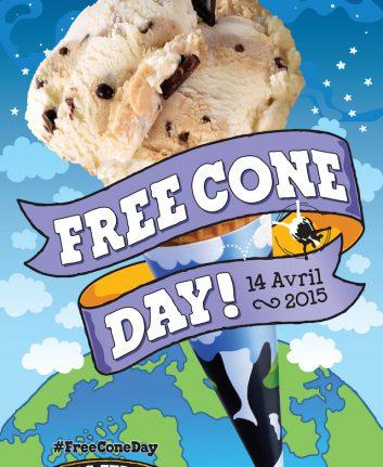 Free Cone Day - 14 avril 2015
