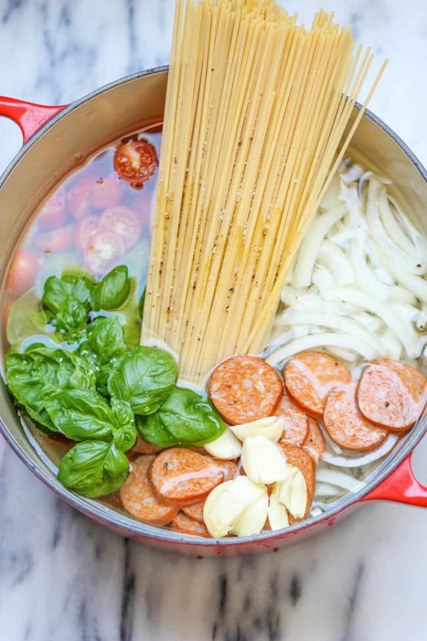 One pot pasta le plat tout en un base de p tes - Plat cuisine weight watchers ...