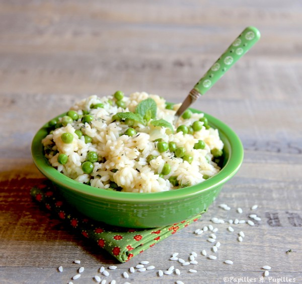 Risotto menthe petits pois