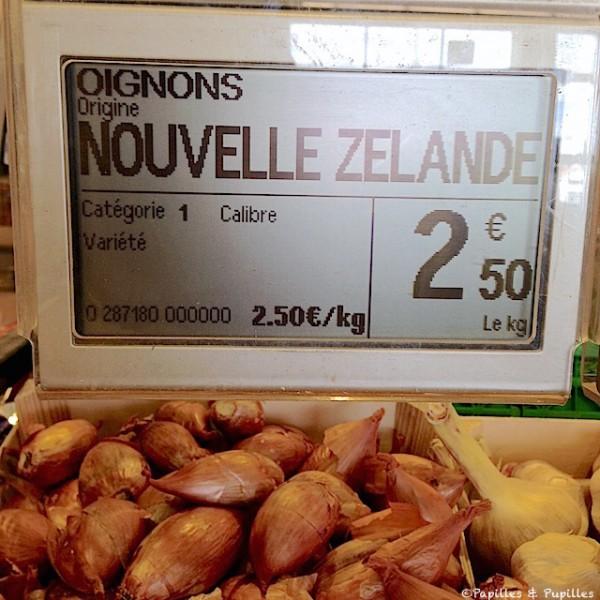 Oignons vrac Nouvelle Zélande