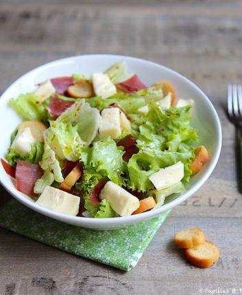 Salade au Reblochon et viande des grisons