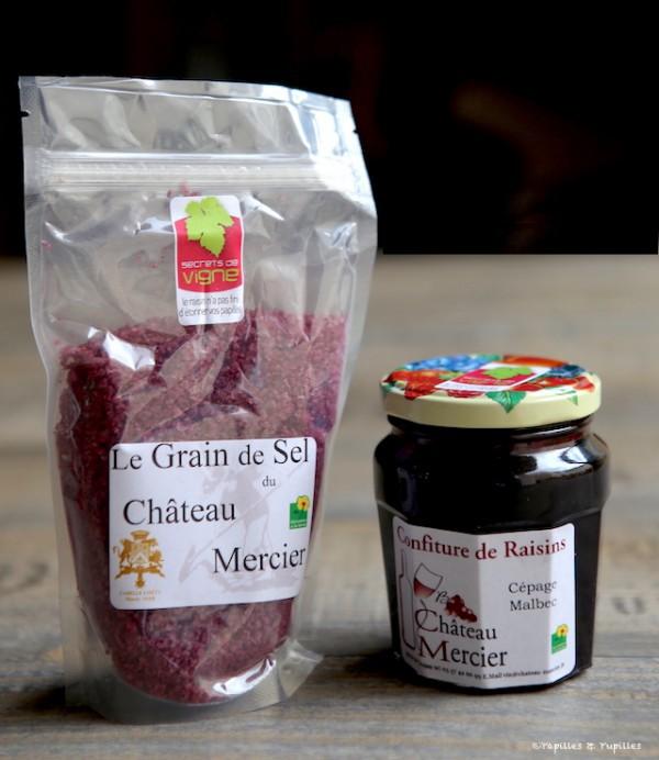 Sel au vin et confiture de raisins Malbec - Château Mercier