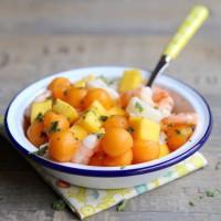 Tartare melon mangues crevettes (c) AnneLataillade