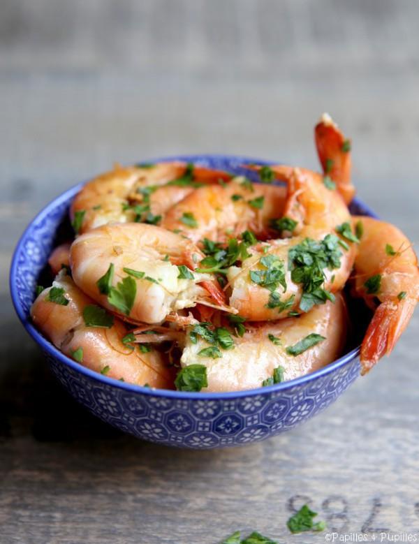 Crevettes en persillade